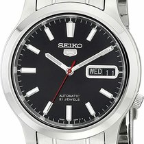 Seiko 5 Steel 37mm Black United States of America, New Jersey, Somerset