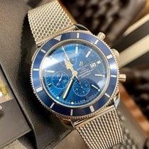 Breitling Superocean Héritage Chronograph подержанные 46mm Синий Хронограф Дата Сталь