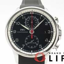 IWC Portugieser Yacht Club Chronograph Stahl 45mm Schwarz
