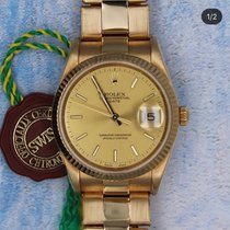 Rolex Oyster Perpetual Date Yellow gold 34mm Champagne No numerals United Kingdom, Surbiton