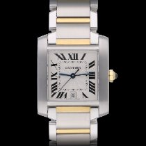 Cartier Tank Française Gold/Steel 28mm White Roman numerals