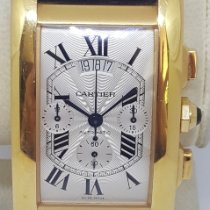 Cartier Tank Américaine Yellow gold 52mm Silver Roman numerals United States of America, Colorado, 80206