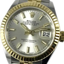 Rolex Lady-Datejust Gold/Steel 28mm Silver No numerals