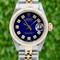 Rolex Lady-Datejust Золото/Cталь 26mm Синий Без цифр