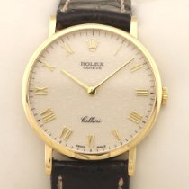 Rolex Cellini Geelgoud 32mm Zilver Arabisch