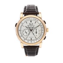 A. Lange & Söhne Rose gold Manual winding Silver No numerals 43mm pre-owned Double Split