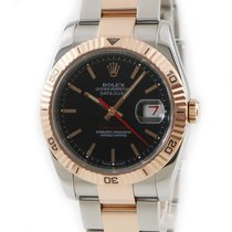 Rolex Datejust Turn-O-Graph Rose gold Black