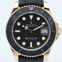 Rolex Yacht-Master 37 Rose gold 37mm Black No numerals
