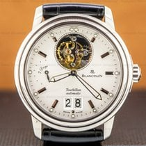 Blancpain Léman Tourbillon White gold 38mm Silver United States of America, Massachusetts, Boston
