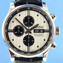 Mido Multifort Chronograph Acier 44mm Argent