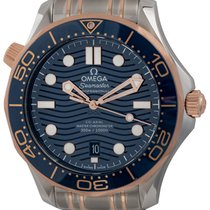 Omega Seamaster Diver 300 M Or/Acier 42mm Bleu
