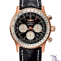 Breitling Navitimer Rattrapante Oro rosa 45mm Negro Sin cifras