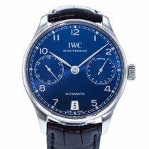 IWC Portuguese Automatic occasion 42mm Bleu Date Cuir
