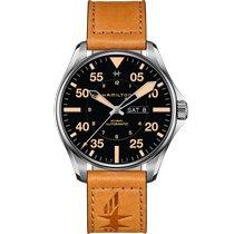 Hamilton Khaki Pilot Day Date Steel 46mm Black Arabic numerals United States of America, Massachusetts, Florence