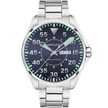 Hamilton Khaki Pilot Day Date Steel 46mm Blue Arabic numerals United States of America, Massachusetts, Florence