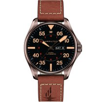 Hamilton Khaki Pilot Day Date Steel 46mm Black Arabic numerals United States of America, Massachusetts, Florence