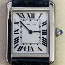 Cartier Tank Solo Steel 24mm Silver Roman numerals