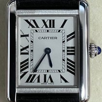 Cartier Tank Solo Steel 24mm Silver Roman numerals Singapore
