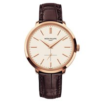 Patek Philippe Calatrava Rose gold 38mm Silver No numerals UAE, Dubai