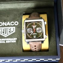 TAG Heuer Steel Automatic Green No numerals 39mm new Monaco