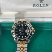 Rolex GMT-Master pre-owned 40mm Black Date GMT Gold/Steel