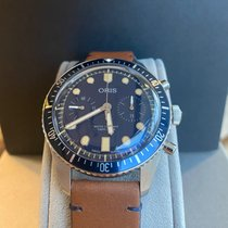 Oris Divers Sixty Five new 2019 Automatic Chronograph Watch with original box and original papers 0177177444095
