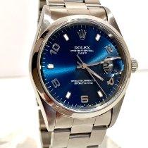 Rolex Oyster Perpetual Date Acier 34mm Gris Arabes