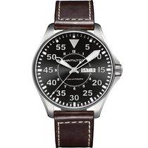 Hamilton Khaki Pilot Day Date Steel 46mm Black Arabic numerals
