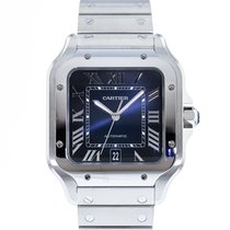Cartier Santos (submodel) Steel 39.8mm Blue Roman numerals United States of America, New York, New York