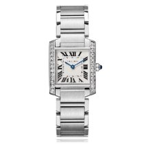 Cartier Tank Française Steel 30mm Silver Roman numerals United States of America, New York, New York