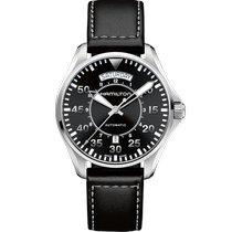 Hamilton Khaki Pilot Day Date Steel 42mm Black Arabic numerals United States of America, Massachusetts, Florence
