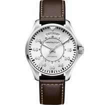 Hamilton Khaki Pilot Day Date Steel H-40mm Silver Arabic numerals United States of America, Massachusetts, Florence