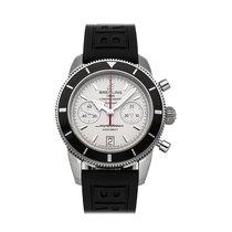 Breitling Superocean Héritage Chronograph occasion 44mm Argent Chronographe Date Caoutchouc