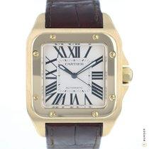Cartier Santos 100 używany 41mm Biały Skóra krokodyla