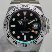 Rolex Explorer II Stål 42mm Sort Ingen tal