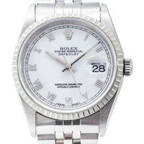 Rolex Datejust Acero 36mm Blanco