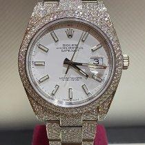 Rolex Datejust Acier 41mm Blanc Sans chiffres Belgique, Antwerp