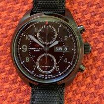 Hamilton Khaki Field pre-owned 42mm Black Chronograph Date Weekday Textile