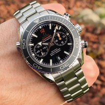 Omega Seamaster Planet Ocean Chronograph Steel Black No numerals United States of America, Wisconsin, Jefferson