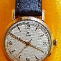 Tudor Ouro amarelo Corda manual Ouro Árabes 32mm usado