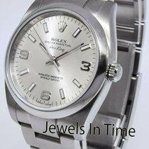 Rolex Air King Stahl 34mm Silber Keine Ziffern