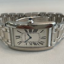 Cartier White gold 27mm Manual winding Cartier Tank Americaine 1738 pre-owned