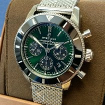 Breitling Superocean Héritage Chronograph Steel 44mm Green No numerals
