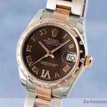 Rolex Lady-Datejust Złoto/Stal 31mm Brązowy