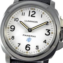 Panerai Luminor Base Logo Acero 44mm Blanco Arábigos