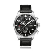 IWC Pilot Chronograph Steel 43mm Black Arabic numerals United States of America, New York, New York