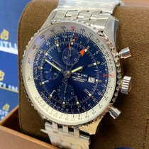 Breitling Navitimer GMT Acero 46mm Azul