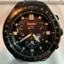 Seiko Astron GPS Solar Chronograph Titanio 46mm Negro Sin cifras