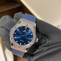 Hublot Classic Fusion Blue pre-owned 42mm Blue Date Rubber