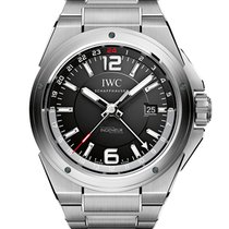 IWC Ingenieur Dual Time Stål 43mm Svart